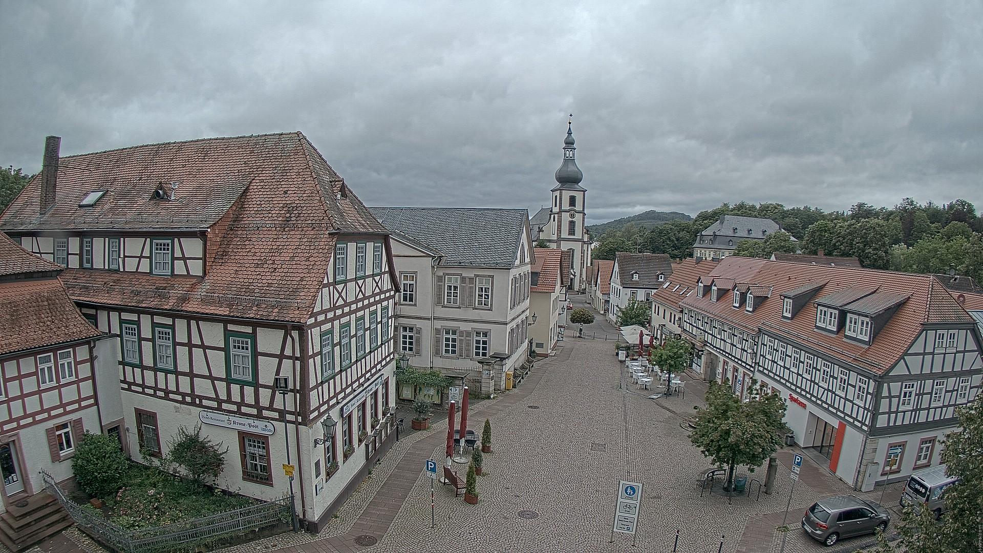Blick vom Rathaus in Gersfeld